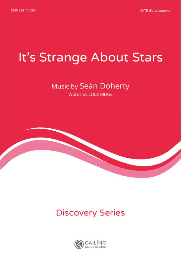 Its Strange About Stars Score Cover